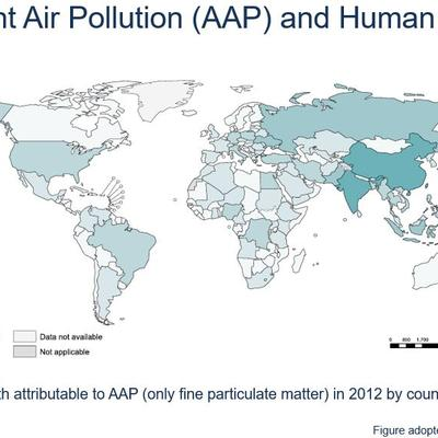 Air pollution map