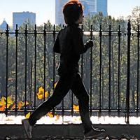 running by skyline